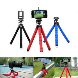 Wholesale Camera Car For Sale - Wholesale-Hot Sale Car Phone Holder Flexible Octopus Tripod Bracket Selfie Stand Mount Monopod Styling Accessories For Mobile Phone Camera