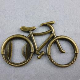 2019 llaveros vintage Vintage Bicicleta Abridor de Botellas Anillo de Aleación De Aluminio Abridor Llaveros de Metal Llaveros Anillos de Vino de la Cerveza Abridor de Artesanía de Metal Herramientas de Cocina Abierta llaveros vintage baratos