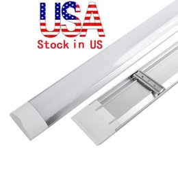 Wholesale Wholesale Grilles - LED tri-proof Light Batten T8 Tube 1FT 2FT 3FT 4FT Explosion Proof Two LED Tube Lights Replace Fluorescent Light Fixture Ceiling Grille Lamp