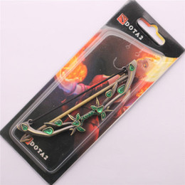 Wholesale Green Electronic Products - free shipping DOTA2 Game peripheral products Weta Drow Butterfly bow Weapon model Key ring Pendant