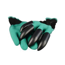 Водонепроницаемые садовые перчатки онлайн-Garden Genie Перчатки с кончиками пальцев Green Dig и безопасные для растений перчатки для садовых работ Сад Водонепроницаемые перчатки для копания Бесплатная доставка