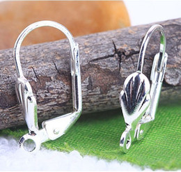 Wholesale Lever Back Ear - Free shipping Silver Plated Lever Back Ear wires 17mm