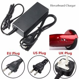 Wholesale Wholesale 2a Battery - Universal Hoverboard Charger Blance Scooters Battery Charger for Smart Balance Wheel US UK AU EU Plugs 100-240V 2A Fast Ship DHL Free