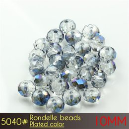 Wholesale Purple Glass Cleaner - Crystal Glass Shine Clean Retail On-line Shop Rondelle Beads 10mm Plated colors A5040 72pcs set more Plated colors