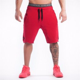 Wholesale Bodybuilding Shorts - Wholesale-2016 Top Quality Men Casual Brand Gyms Fitness Shorts Men Professional Bodybuilding Short Pants Gasp Male