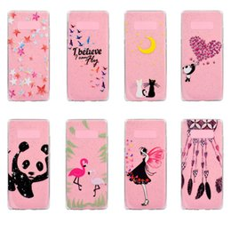 Wholesale Galaxy Grand Cute Cases - Crystal Transparent Glitter Soft TPU Case 360 Degree Protection 8 Cute Designs for Samsung Galaxy Note 8 S8 S7 S6 Grand Prime G530
