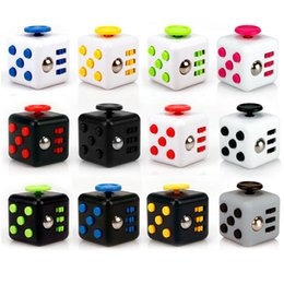 Wholesale Gifts Lights - Magic Fidget Cube Anti-anxiety Decompression Toy Adults Stress Relief Kids Toy Gift 11 Colors led light fidget spinner toy metal OTH331