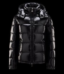 Wholesale Designer Winter Down Coats - Men Authentic Maya Down Jacket Parkas Coats Nwt Shiny Matt Black Red Warm Winter Jackets Brand Designer Outwear Coat