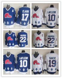 Wholesale Hockey Jersey Guy Lafleur - Men's Quebec Hockey Jerseys 10 Guy Lafleur 17 Wendel Clark 22 Mario Marois 19 Joe Sakic Jersey Adult Embroidery Logos Free Shipping
