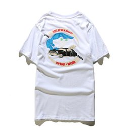 Wholesale New Car Shark - 2017 New Classic New York Funny RIPNDIP Car Fashion T Shirt Cross Hip Hop T-Shirt off white Streetwear Shark Purpose Tour