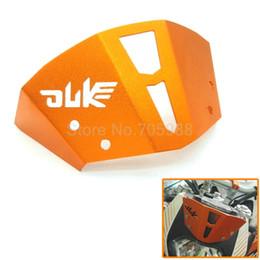 Bicicletas de pára-brisa on-line-2017 venda Quente Cor Laranja Motocicleta CNC Windshield Windscreen Para KTM Duke 125 200 390 Duke bicicleta da sujeira