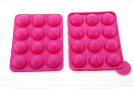 Wholesale Silicone Loaf Moulds - 12 wells Silicone Tray Pop Lollipop Pops Mould Cupcake Baking Mold Party Kitchen Tools