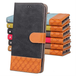 Wholesale Case Jean Iphone - For Iphone X Samsung Galaxy S9 NOTE8 MOTO G5 G4 Huawei P10 LG G5 G6 One Plus 5T Canvas Diamond Jean Wallet Leather Case ID Card Stand Cover