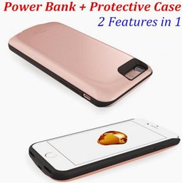 Wholesale Extended Tpu - External Backup Extend Pack Smart Mobile Phone iPhone 7 Plus Battery Charger Case for iPhone6 6s iPhone 7 Parts Case Power Bank Cover Lot