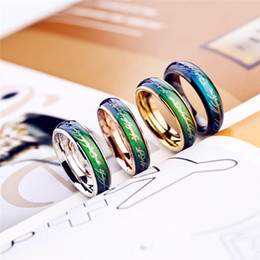 Wholesale Imitation Roses - Lord of the rings jewelry fashion mood ring 2017 color woman men temperature change you reveal your inner feelings