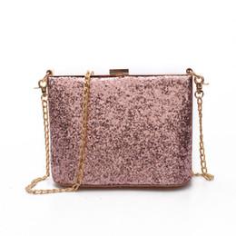 Wholesale Sequin Glitter Wallet - Woman Evening bag Gold Glittered Clutch bags Wallet Wedding Purse Party Banquet girls shoulder bag Messenger bag 2017 NEW