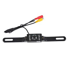 Wholesale Rear Vision Systems - LEEWA Auto Parking System License Plate Rear View Backup Camera With IR Leds Night Vision Car Camera # 1275