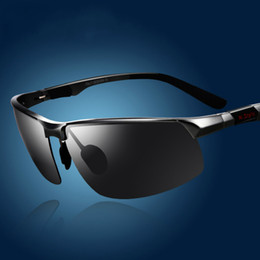 Wholesale Magnesium Sale - Aluminum Magnesium Brand Designer Polarized Sunglasses Mens Glasses Driving Outdoor Sport Glasses Summer Classic Sale Black Lens Eyewear New