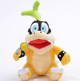 "Wholesale Super Mario Bowser Toys - Wholesale- Super Mario Bros Iggy Hop Koopa Bowser Koopalings 8"" Soft Plush Doll Toy"