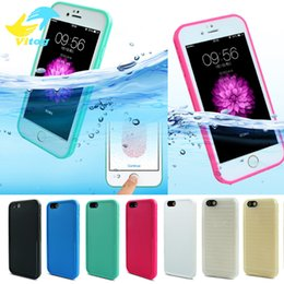 Wholesale Red Iphone Shell - Shockproof Dustproof Underwater Diving Waterproof Cases Cover For iphone 6 7 Plus s7 waterproof case Shell Outdoor Case
