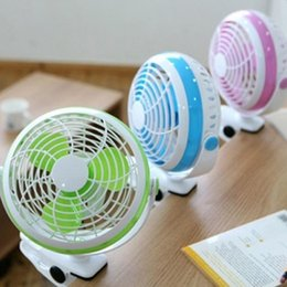 Wholesale Ceiling Clips - 2017 new mini USB clip fan shaking his head fan battery mute small fan free shipping