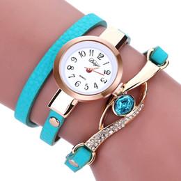 Wholesale Wrap Watch Brands - Mance branded ladies watches 2017 Fashion Women diamond bracelet watches Wrap Around Leatheroid Quartz Wrist Watch montre femme