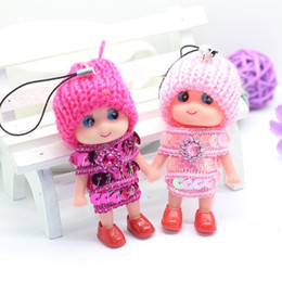 Wholesale Promotional Bags Plastic - Creative gift bag pendant hot Doll Plush Doll mixed batch small confused a variety of promotional gifts