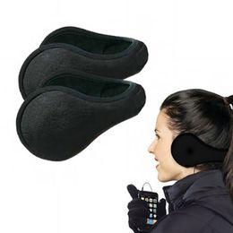 Wholesale Ear Muff Plush - Ear Muffs Women Men Unisex Warm Winter Plush Earmuffs Black Ear Warmers Earlap Ear Cover Outwear Riding Fashion Accessories YYA641