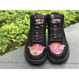 Wholesale Mens Road Cycling Shoes - 2017 New Sakuragi Flower Road Air Retro 1 Men Basketball Black Pink Shoes Retros 1s Black Sneakers Trainers Mens Sport Shoes Sneakers