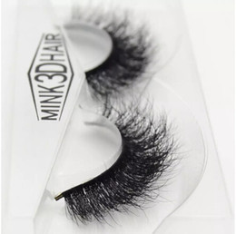 Wholesale make crosses - Hot 3d mink lashes wholesale 100% real  Handmade crossing lashes individual strip thick lash 09 free shipping