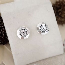 Wholesale Offering Plates - 2017 Plant Real New Classic Offer Brinco Earrings European Compatible With Fit pandora Earrings With Studs 925 Silver Jewelry Gift