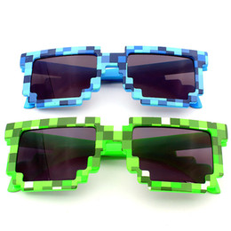 Wholesale Minecraft Wholesalers - Mosaic sunglasses Boys Girls Minecraft Glasses Pixel kids Sunglasses Female Male Mosaic Sun Glasses kids Glasses for party vacation