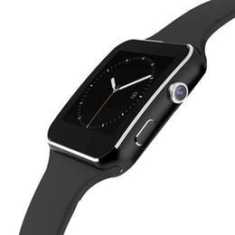 Wholesale Heart Curves - Curved Screen X6 Smartwatch Smart watch bracelet Support SIM TF Card Slot with Camera for Samsung LG Sony IOS Android Mobile Phone