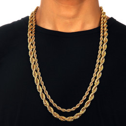 Wholesale Gold 18k 24k Chain - Mens Iced Out Hip hop Chains Yellow 24K Gold Plated Necklace Available Hiphop Popcorn Chain Men Jewelry Fashion Star Same