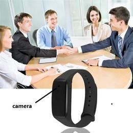 2019 mini grabadora de video recargable 1080 P Pulsera Cámara Full HD Wearable Pulsera Inteligente Mini Cámara Grabadora de Video Recargable brazalete deportivo DVR 30pcs mini grabadora de video recargable baratos
