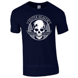 Wholesale metal sign printing - Outer Heaven T-Shirt - Metal Gear Solid V 5 Sign Gaming Logo Fan Gift Mens Top Sleeve Tee Shirt Homme T-shirt