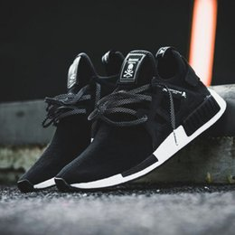 Wholesale Arrival Japan - 2017 New Arrival NMD XR1 x Mastermind Japan Skull Men's Casual Running Shoes for High quality Black Boost Fashion Sneakers Size 36-44
