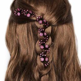 Wholesale Mini Rhinestone Hair Clips - 6Pcs pack Wedding Bridal Hair Claws Women Mini Headwear Rhinestone Snowflake Hair Clips Flower hairpins Hair Accessories