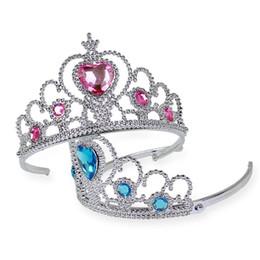 pin corona tiara Sconti Forcine Tiara Crown Hair Sticks Clip Barrettes per Bambini Regalo di Natale Pin Capelli Bobby Pin Barrettes Testa Monili Dei Capelli IB295