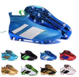 Wholesale Pure Fishing - Wholesale 2017 Ace 16+ Purecontrol FG AG Soccer Boots Pure Control Football Shoes Soccer Cleats Boots Authentic Top Ankle Football Shoes
