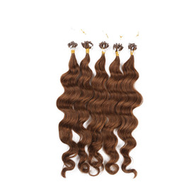 Wholesale I Tip Indian Virgin Hair - #6 Brazilian deep curly virgin hair double drawn I   Stick tip hair extension 1g strand 200pcs lot unprocessed brazilian curly virgin hair