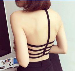 Wholesale Bandage Xxs - Wholesale-Crop Tops 2016 Summer Backless Strip Bandage Vest Shirts Fit Size XXS-L bustier crop top