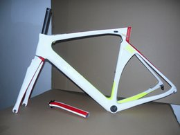 Wholesale Carbon Road Bikes 54 - 2017 Newest model Road bike carbon Frameset White-Yellow-Red T1100 UD SK carbon road frames with 48 50 52 54 56cm BB386 free shipping
