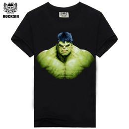 Wholesale Hulk T Shirts - Wholesale- 2016 New Arrival Mens 3D The Hulk Printing T Shirt Tops Tees Short Sleeve t-Shirt Summer Fashion Men Casual Men's Clothing