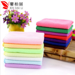 Wholesale Microfiber Cleaning Cloth White - Microfiber towel wholesale 30*30 nano absorbent cloth to scrub clean towel handkerchief towel factory direct car