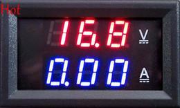 """Wholesale Volt Panel Meter Blue - DC 0-100V 10A Digital Voltmeter Ammeter Dual Display Voltage Detector Digital Current Meter Panel Amp Volt Gauge 0.28"""" Red Blue LED TK1382"""