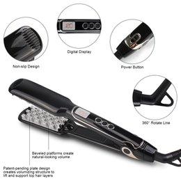 Wholesale Lcd Flat Iron - 2017 Hot Sell voloom hair volumizing iron Flat Iron hair straightener Digital Flat Iron with LCD Display