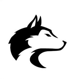 Husky Pet Dog Alaska Sled Wolf Canine Autocollant De Voiture pour Camping-Car Minicab SUV Fenêtre Motos Vinyle Decal 10 Couleurs Jdm ? partir de fabricateur