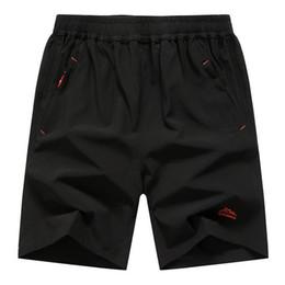 Wholesale Mens Beach Shorts Wholesale - Wholesale- Mens Zip Pocket Shorts Loose Elastic Waist Summer Beach Boardshorts Gasp Casual Shorts Men Big Plus Size 6XL 7XL 8XL 9XL 10XL