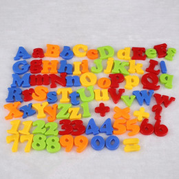 Wholesale Magnet Numbers Alphabet - Wholesale- Magnetic Alphabet Letter Maths Number Symbol Magnets Gift In Jar 78Pcs